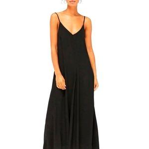 Black lacausa 100% cotton maxi dress small